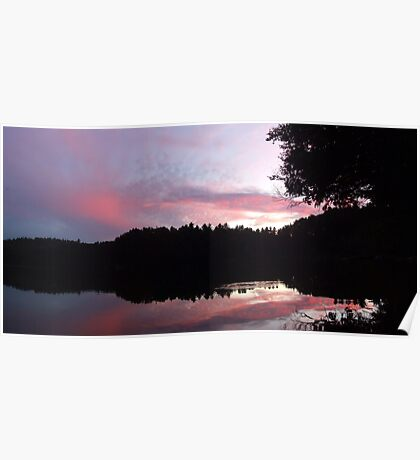 Sunset over Lac Corbeau Poster