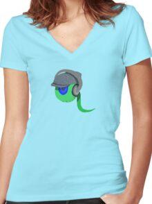 Jack Septic Eye Sam Alternate Color! Women's Fitted V-Neck T-Shirt