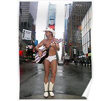The Naked Cowboy, Times Square, New York Poster