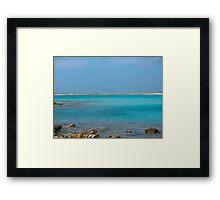 Blue Island Rush Framed Print