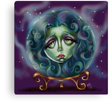 Woman in Crystal Ball  Canvas Print
