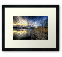 Shoreline to Sunset Framed Print