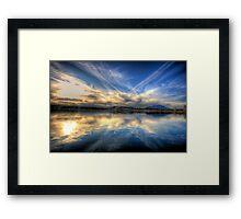 Sky meets Lake Framed Print