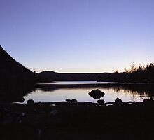 Last Light on Lake Myrtle by Damien Hingston