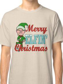 Funny Merry Elfin Christmas Bah Humbug Classic T-Shirt