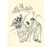The Zankiwank & the Bletherwitch by Shafto Justin Adair Fitz Gerald art Arthur Rackham 1896 0093 Peaseblossom & Mustardseed Photographic Print