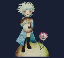 Wintry Little Prince T-shirt by sandygrafik