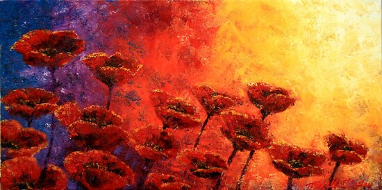 Heavenly Poppies by Abstract D'Oyley