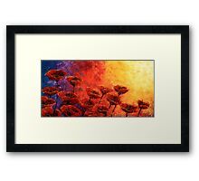 Heavenly Poppies Framed Print