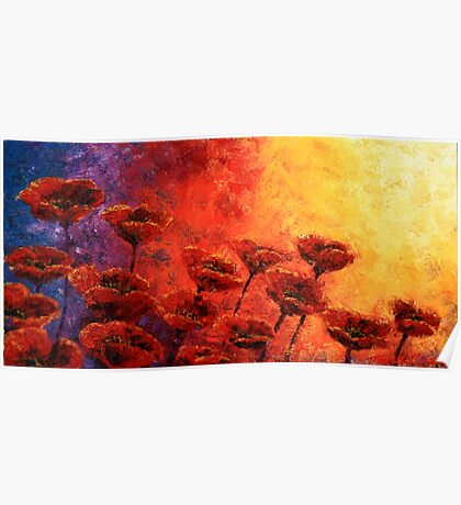 Heavenly Poppies Poster