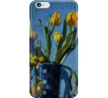 Yellow tulips with polka dots iPhone Case/Skin