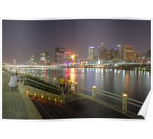 Brisbane from South Bank Poster