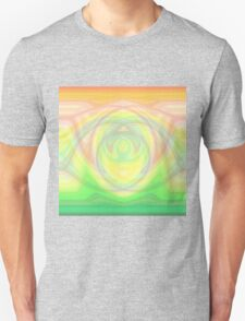 Hypno Rose-Yellow-Green Curves T-Shirt