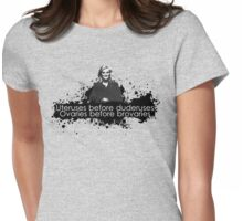 Ovaries before brovaries  Womens Fitted T-Shirt