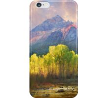 at the foot of the mountains a tranquil stream iPhone Case/Skin