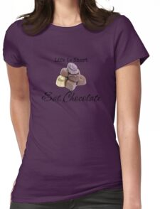 Eat Chocolate Womens Fitted T-Shirt