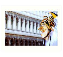 Venetian Mask  in Piazza San Marco Art Print