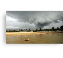 out for a paddle Canvas Print