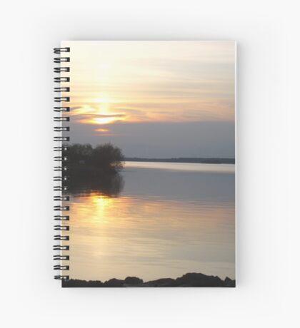 Grey Gold - Irish Sunset Spiral Notebook