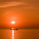 Fisherman's Sunset by Lesley Williamson