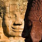 Faces of Bayon by Lesley Williamson