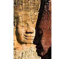 Faces of Bayon Photographic Print
