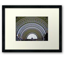 Washington DC - Union Station - Series - Vaulted Ceilings  *framed print sold Framed Print