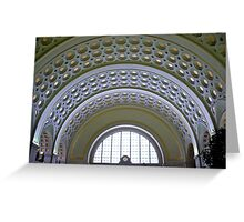 Washington DC - Union Station - Series - Vaulted Ceilings  *framed print sold Greeting Card