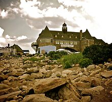 Narragansett Towers - Ocean Road - Rhode Island by Jack McCabe