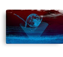 Blue Moon -  Art + Products Design  Canvas Print