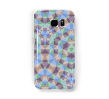 Trendy abstract square and triangle multicolored pattern Samsung Galaxy Case/Skin
