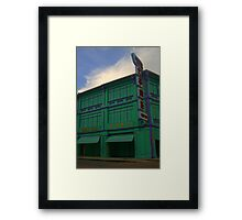 Colours of Penang streets Framed Print