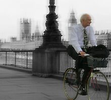 Riding to work, London by daniwillis