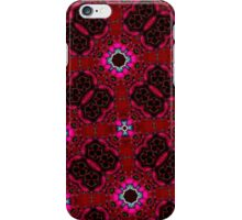 random pattern red iPhone Case/Skin