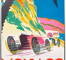 Vintage Monaco Poster - 1932 by OldDawg