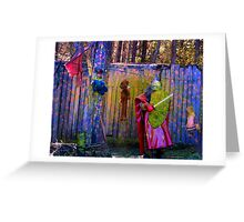 knight in paintball armor Greeting Card