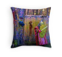 knight in paintball armor Throw Pillow