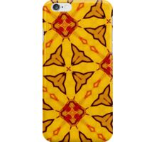 Yellow abstract modern pattern iPhone Case/Skin