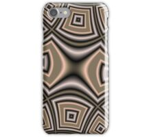 Brown abstract pattern iPhone Case/Skin
