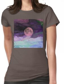 Moon River-  Art + Products Design  Womens Fitted T-Shirt