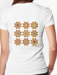 Citrus Foot Flowers Womens Fitted T-Shirt