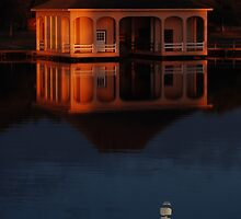 Moon Under the Boathouse by NikonJohn