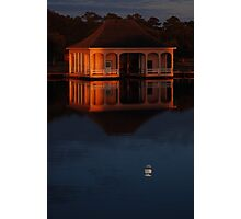 Moon Under the Boathouse Photographic Print