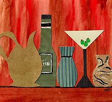 Jars,Bottles And A Martini by SharonAHenson