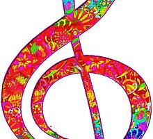 Psychedelic Music Symbol by indusdreaming