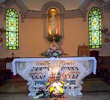 Interior of Sainte Dévote church. by daffodil