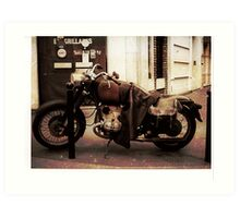 Motorcycle in Texico Art Print