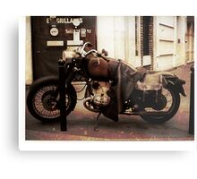 Motorcycle in Texico Metal Print