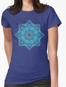 colorful mandala picture Womens Fitted T-Shirt