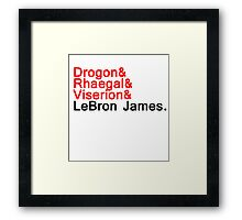 LeBron ''the dragon'' Framed Print